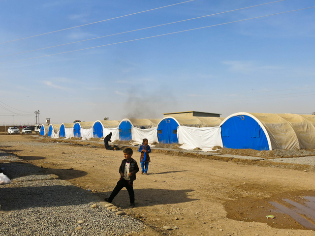 Almost 15,000 people live in Khazer camp.