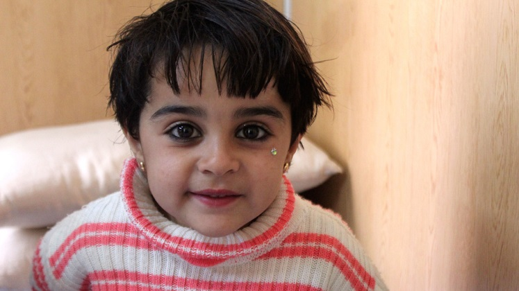 Malak, survivor of a bombing in Syria
