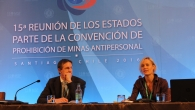 Handicap International Victims Assistance expert Elke Hottentot during the Ottawa Treaty Conference in Santiago, Chile, last December.