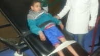 Firas at a rehabilitation session.