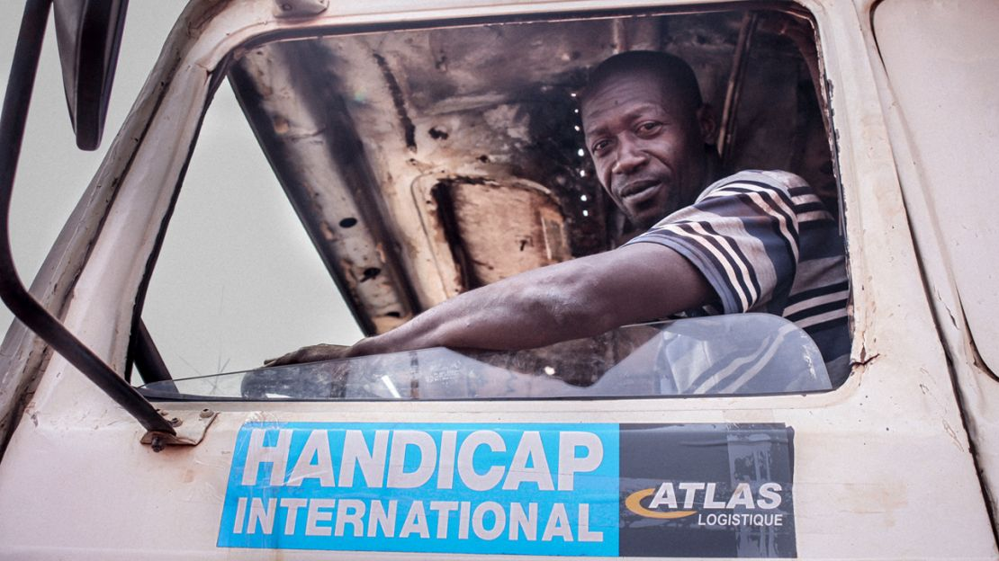 A driver working with Handicap International in CAR.