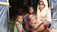 Rohingya displaced family