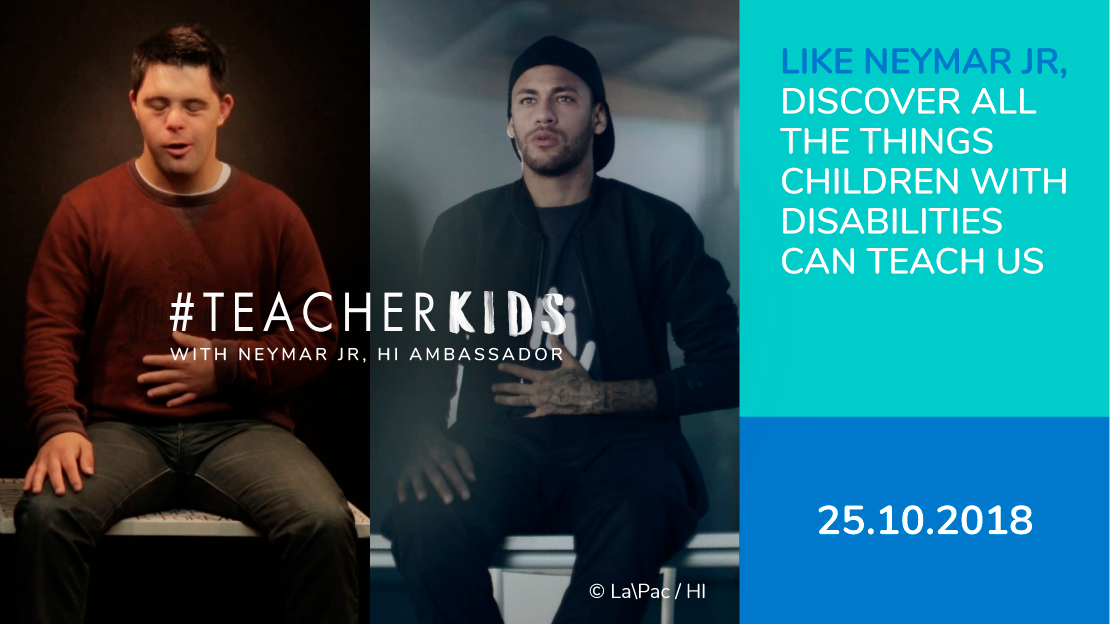 Neymar Jr supports the Teacher Kids operation