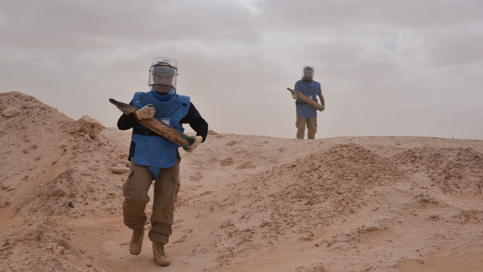 Demining operations conducted by HI near Misrata, Libya, in 2019.