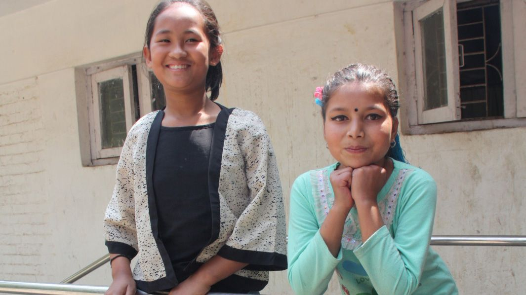 Khendo and Nirmala were earthquake victims in april 2015 in Nepal.