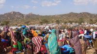 Camp of displaced people in Oromia region where HI distributed non-food items last November ; }}