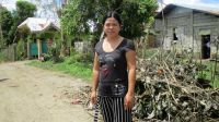 Florabel, 37, experienced the typhoon first hand.; }}