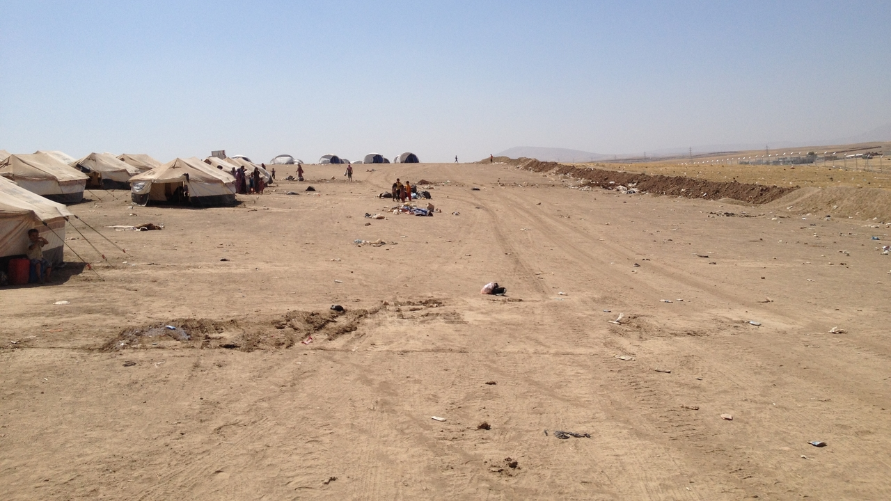 Internally displaced persons camp in Iraq.
