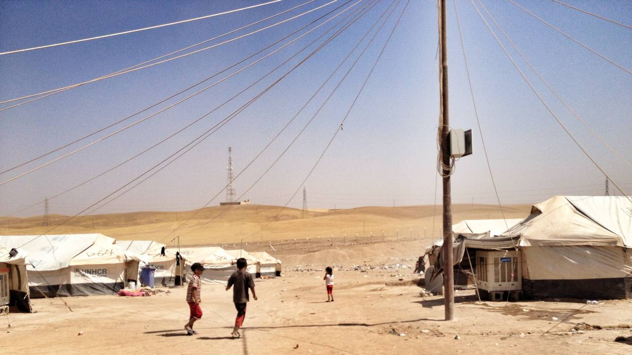 The Khazir camps which accommodate displaced populations who have escaped the fighting in Iraq.