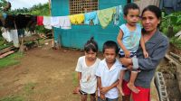 Roldan's house was destroyed by Typhoon Haiyan. He rebuilt it with support from HI.; }}