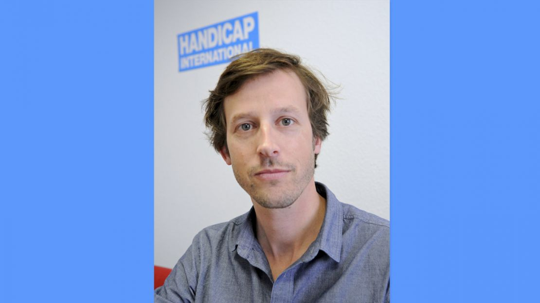 "Thomas Hugonnier, Head of Handicap International's ""Mine Action"" programme"