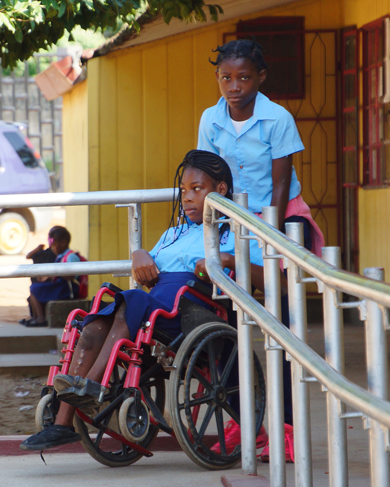Chelsia, 14 years old, now attends an accessible and accessible school