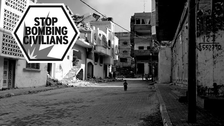 Campagne STOP BOMBING CIVILIANS
