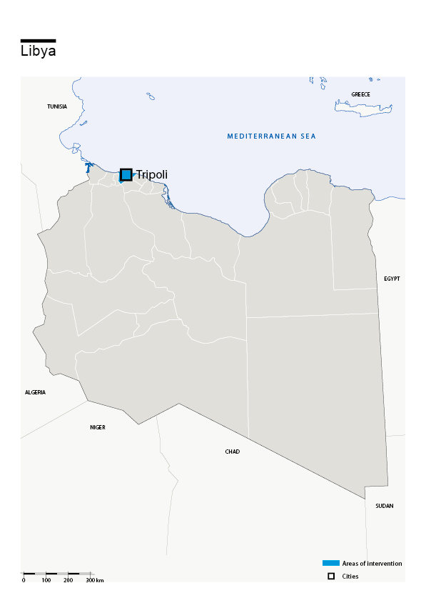 Map of HI's interventions in Libya