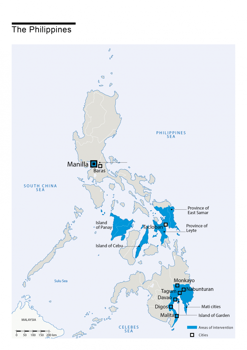 Map of HI's interventions in Philippines