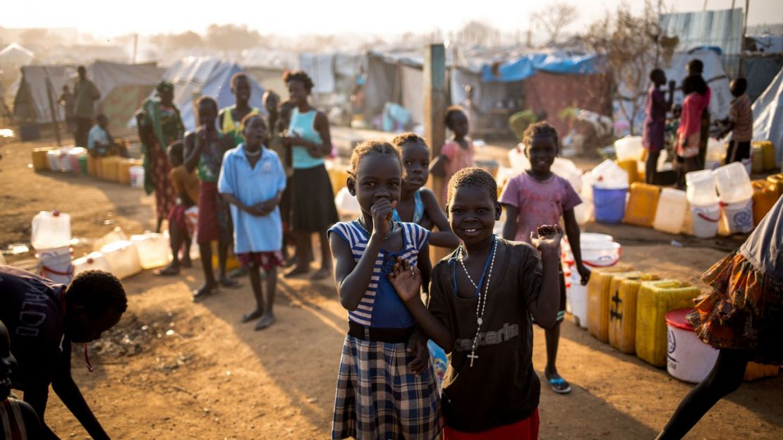 South Sudanese children in camp for displaced people in Juba