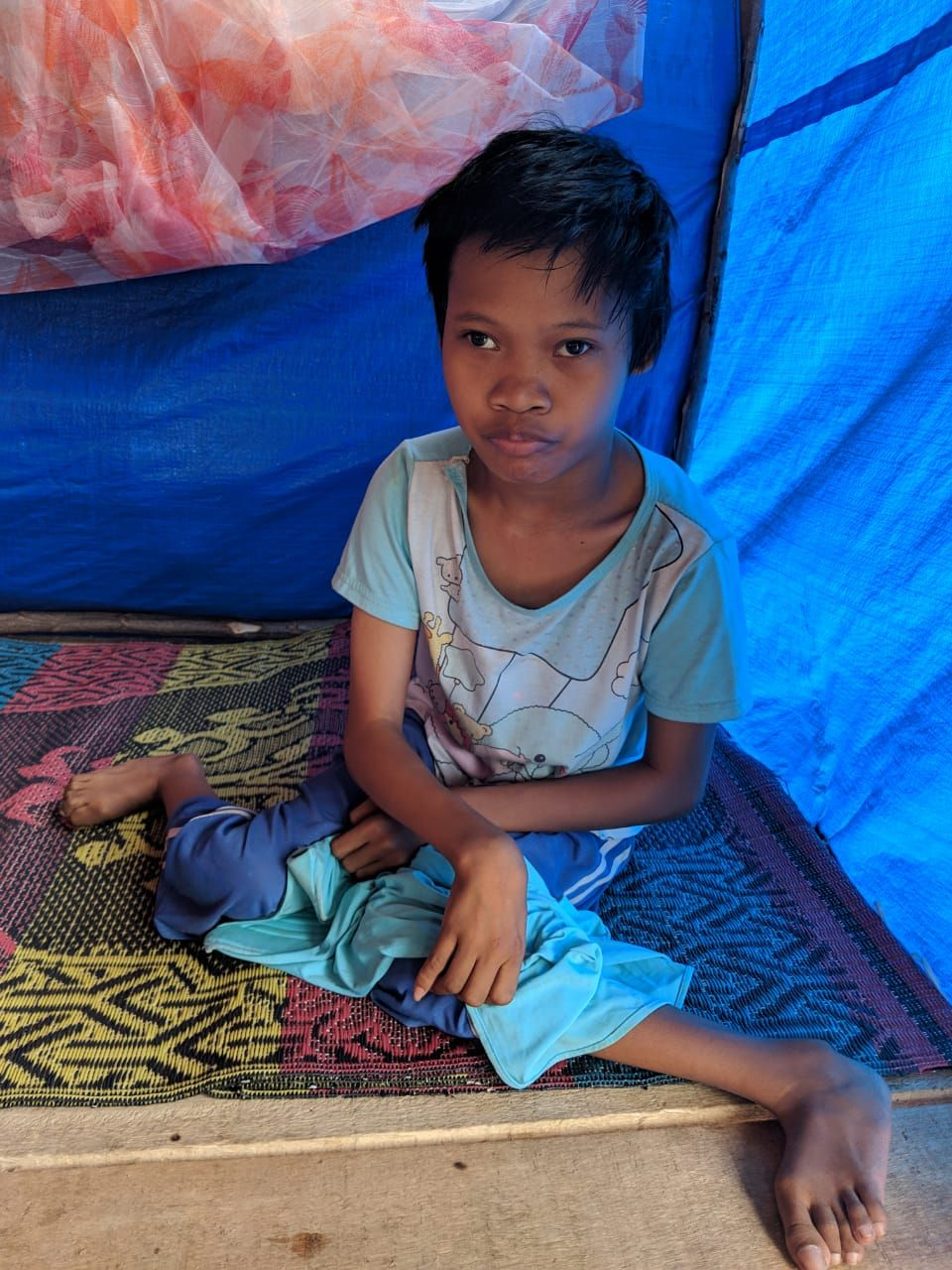 Chid affected by tsunami and earthquake which hit Sulawesi in september 2019