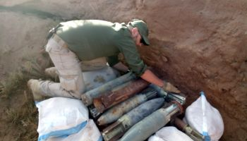 Half a tonne of weapons and bombs destroyed