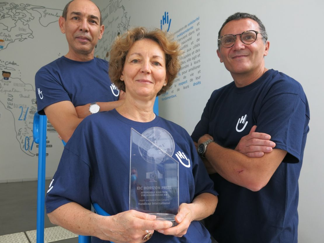 Horizon Prize laureates from the left to the right : Abder Banoune, Isabelle Urseau, Pierre Gallien