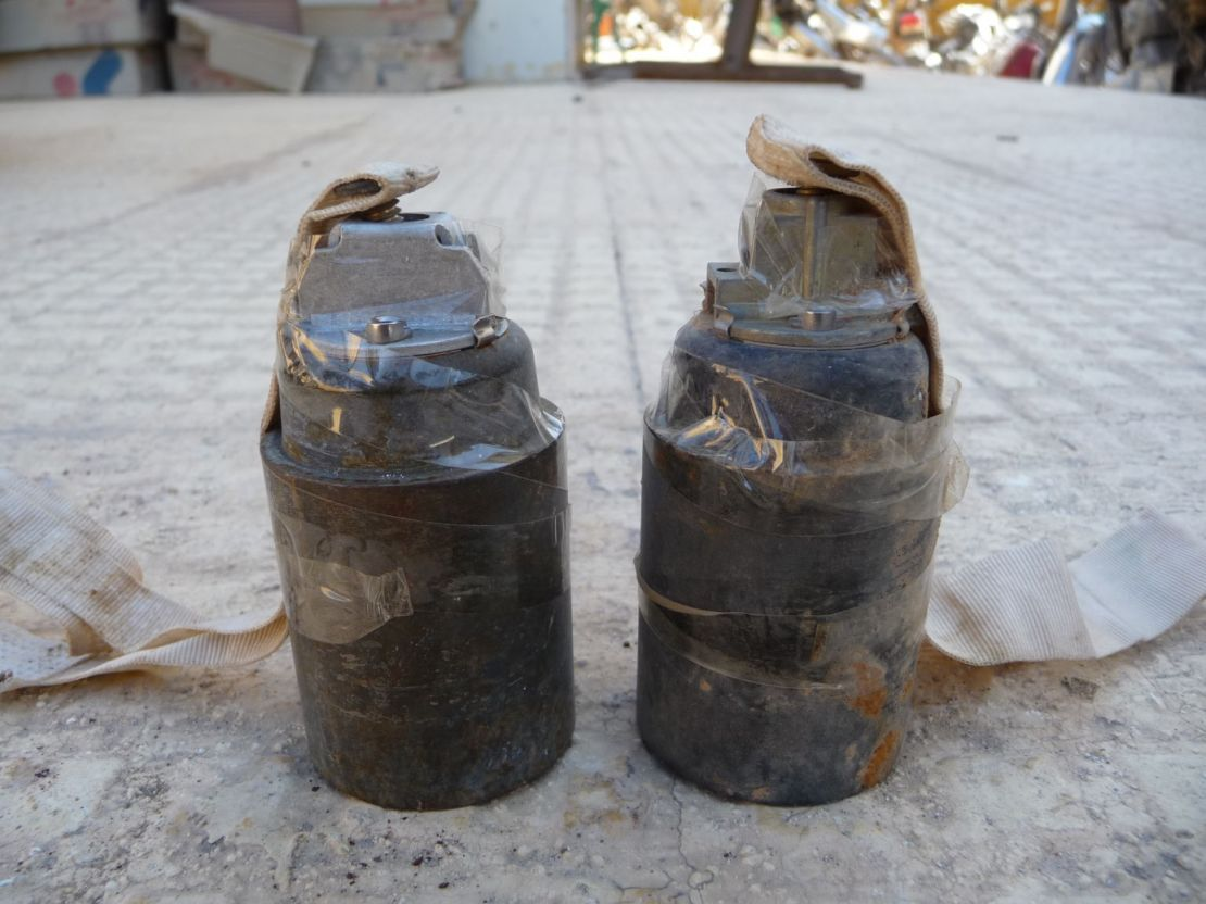 Cluster munitions found in Kobani, northern Syria in 2015