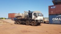 The GCS 100 Explosive Ordnance Disposal (EOD) platform, which left Germany in August 2018, arrived in Chad last December. Once authorisation had been received, it was transported by lorry to Faya.; }}