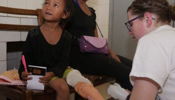 High-tech Recycling: HI re-uses donated artificial limbs to help children like Elinah