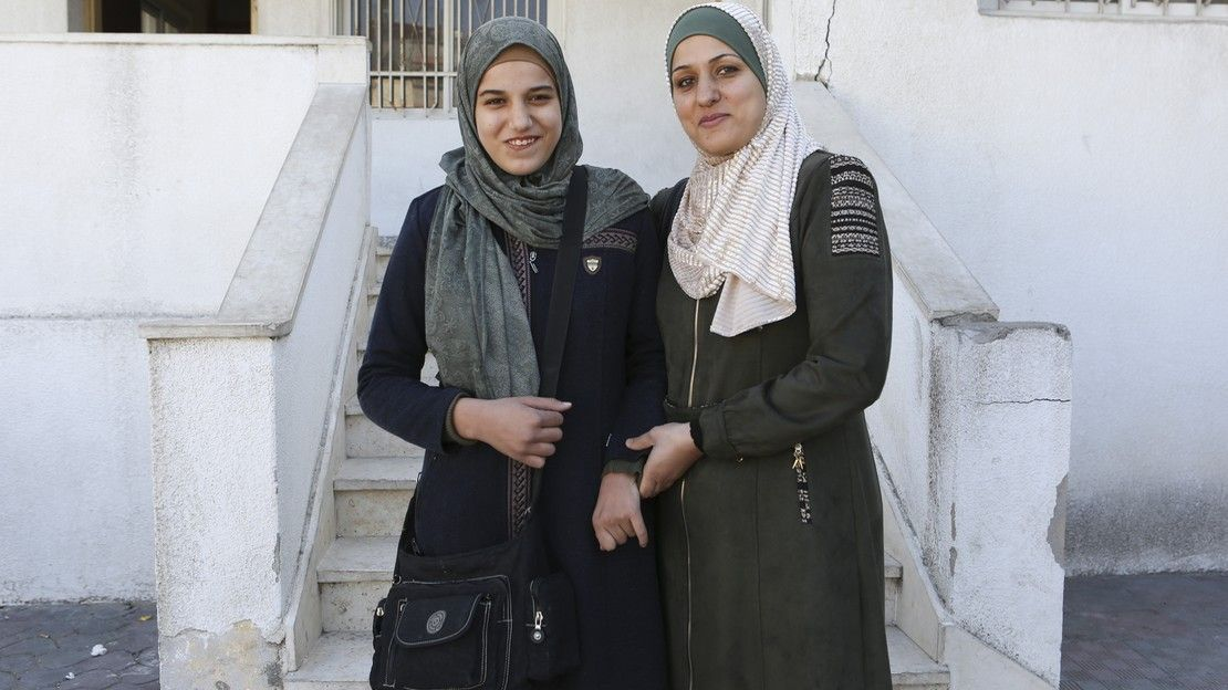 Heba and her daughter, Shahed