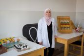 Sina, occupational therapist at the Basma hospital rehabilitation centre ; }}