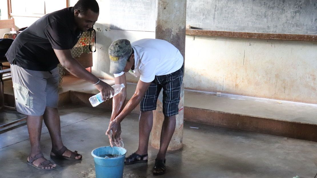 Raising awareness of good hygiene practices in Madagascar.