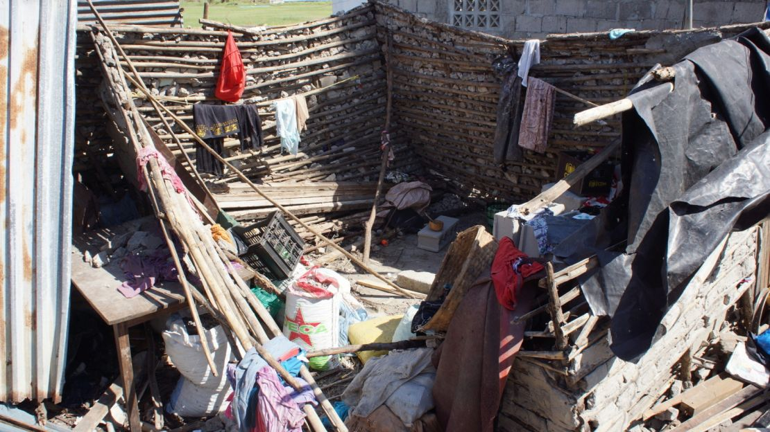 A home in Beira damaged by hurricane Idai on the 14th of March
