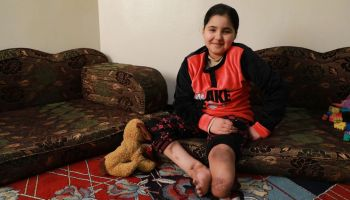Salam's life torn apart by an explosive remnant in Syria