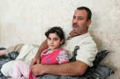 Zyad, a Syrian refugee in Jordan, can no longer travel due to disabling osteoarthritis; }}