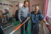 A rehabilitation session in a specialised centre in Sana'a