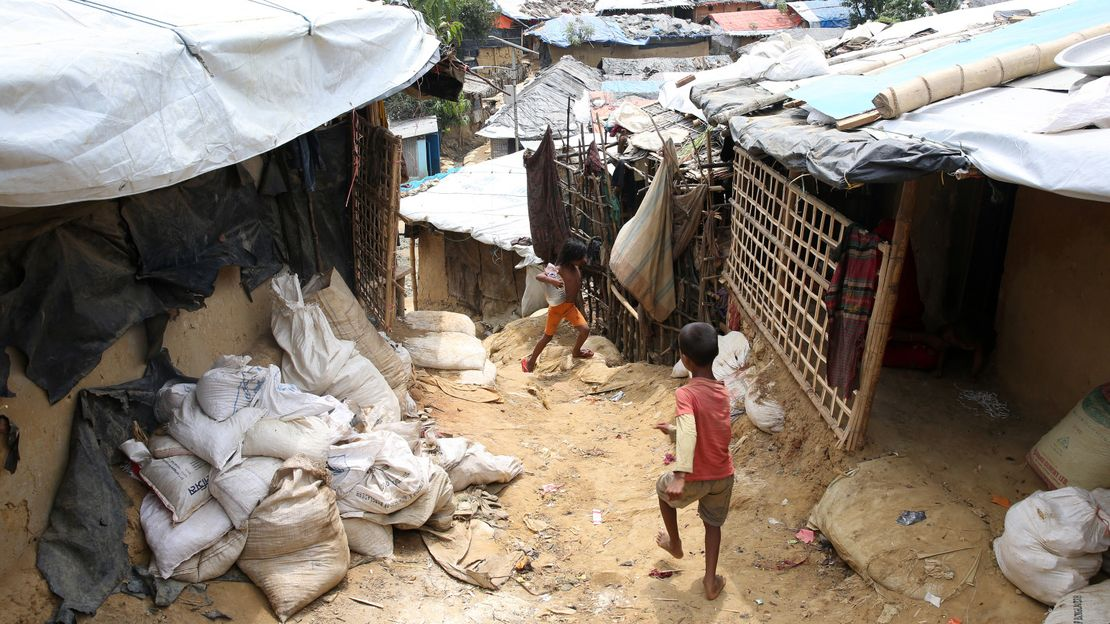 A Rohingya refugee camp in Cox Bazaar, Bangladesh. A refugee camp can be a challenging environment for a person with disability.