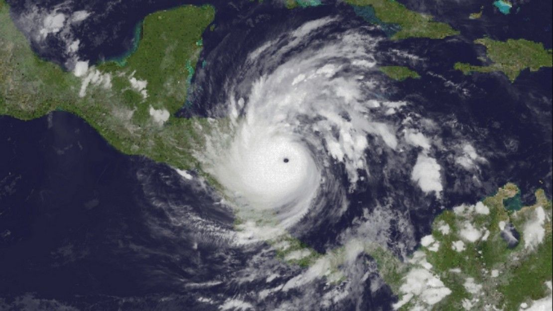 Iota hurricane above Central America on November 17th