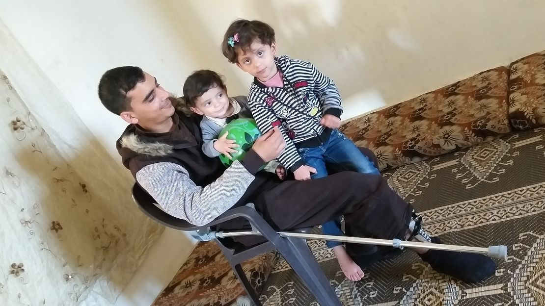 Ihab with his children