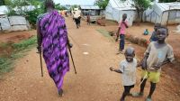 A person with disabilities in a camp for Internally Displaced People in Juba, Southern Sudan